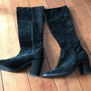 Calvin Klein Tall Black Suede boots size 9